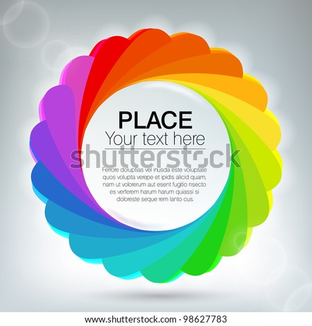 Abstract background with rainbow circles - stock vector