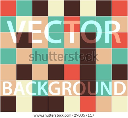Abstract background with randomly colored squares. Stylish vintage colors, retro pattern for a variety of design uses. - stock vector