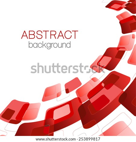 Abstract background with red rectangles - stock vector