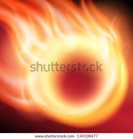 Abstract background with ring of fire. EPS10 vector. - stock vector