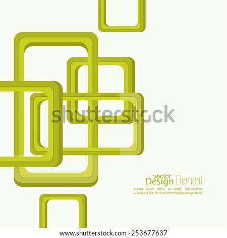 Abstract background with rounded squares. For cover book, brochure, flyer, poster, magazine, booklet, leaflet, cd cover design,  mobile app, annual report template - stock vector