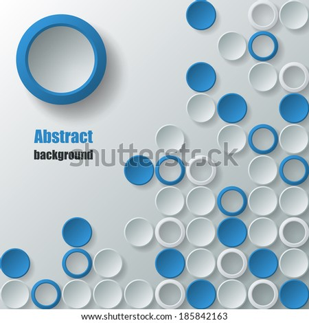 Abstract background with small white and blue circles. Eps10 Vector illustration - stock vector