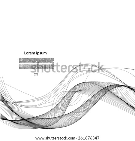Abstract background with smooth lines - stock vector
