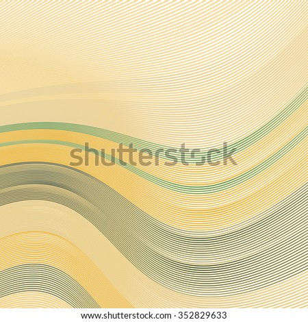 Abstract background with soft yellow and green lines on white, vector smooth blue abstract waves, for cover book, brochure, flyer, leaflet, poster, magazine, website - stock vector