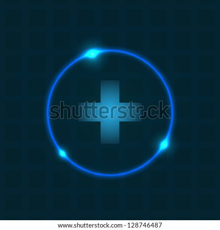 Abstract background with special plasma design - stock vector