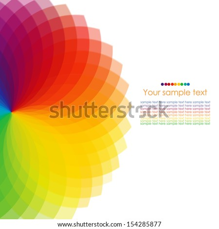 Abstract background with spectrum wheels. - stock vector