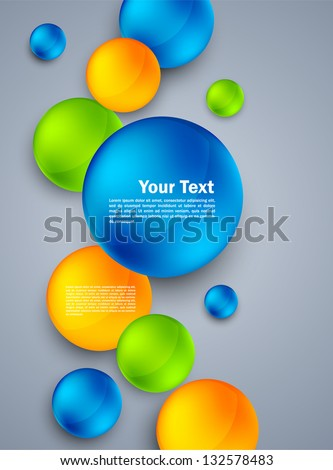 Abstract background with spheres. Bright illustration - stock vector