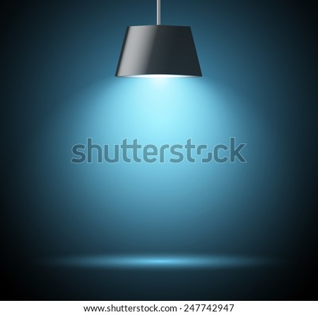 Abstract background with spot light in blue color  - stock vector