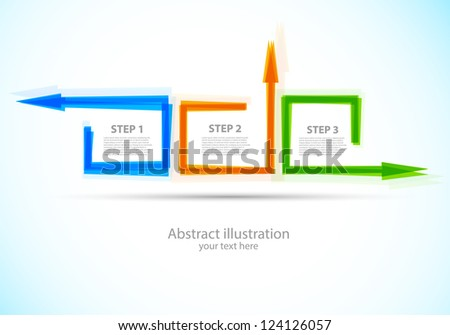 Abstract background with squares and arrows - stock vector