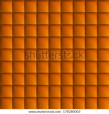 Abstract background with squares in orange. Tiled motif - stock vector