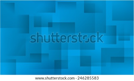 abstract background with squares in various shades of blue - stock vector