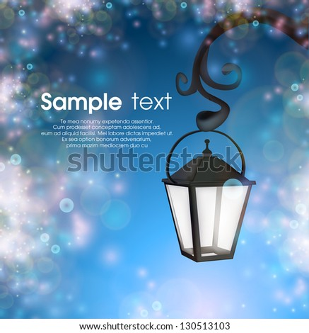 Abstract background with street lantern eps10 - stock vector
