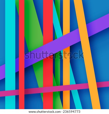 abstract background with stripes of different colors - stock vector