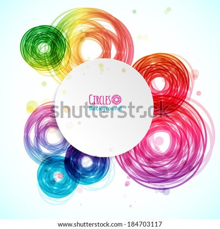 Abstract background with technology circles. Vector illustration for your business presentations.  - stock vector