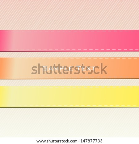 Abstract background with text in textured fabric lines. Vector design.  - stock vector