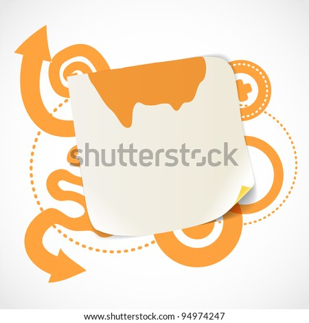 Abstract background with the blank white paper - stock vector