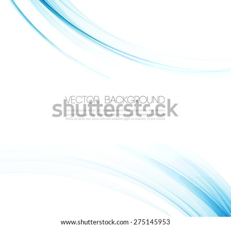 Abstract background with transparent wavy lines. - stock vector