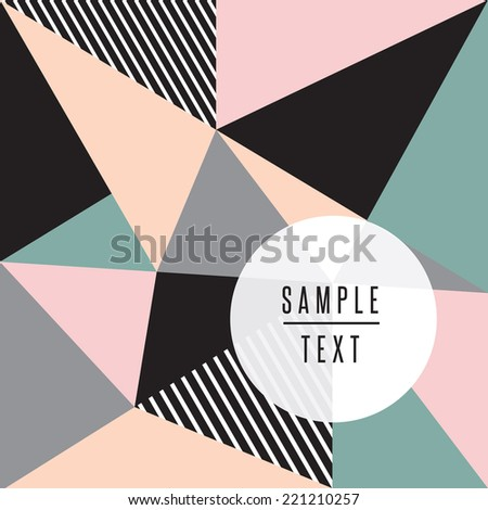 Abstract background with triangles - stock vector