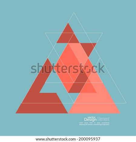 Abstract background with triangles. Triangle pattern background. For cover book, brochure, flyer, poster, magazine - stock vector