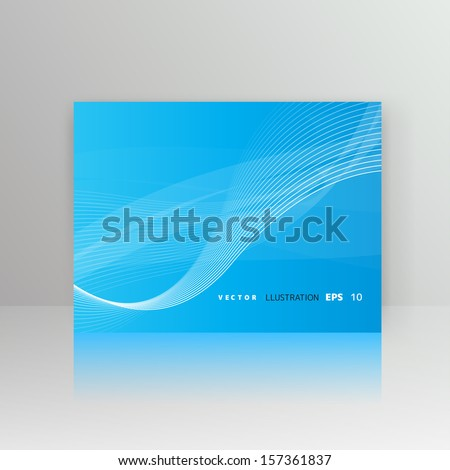 Abstract background with wave - stock vector