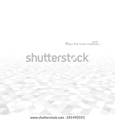 Abstract background with white geometric shapes. Perspective concept. Vector illustration - eps10. - stock vector