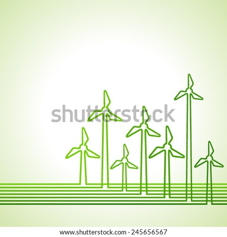 Abstract background with wind-mill stock vector  - stock vector