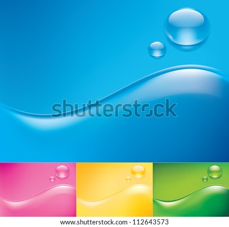 Abstract backgrounds in vector format - stock vector