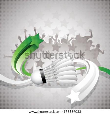 Abstract badminton background - stock vector