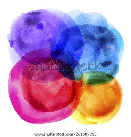 Abstract balloons watercolor paint : vector eps.10 - stock vector