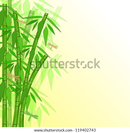 Abstract bamboo with place for text - stock vector