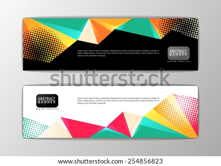 Abstract banner design template, Vector illustration - stock vector