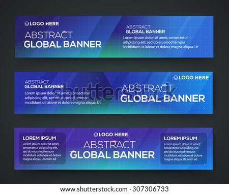 Abstract banner design. Vector. Disco nighclub disco DJ. Global business - stock vector