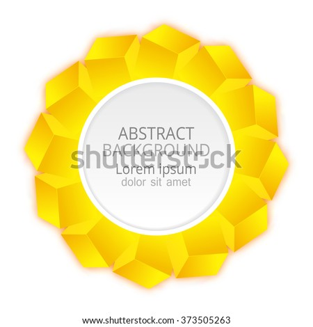 Abstract banner.Vector yellow cubes background.Paper template for text. - stock vector