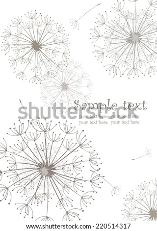 Abstract banner with dandelions - stock vector