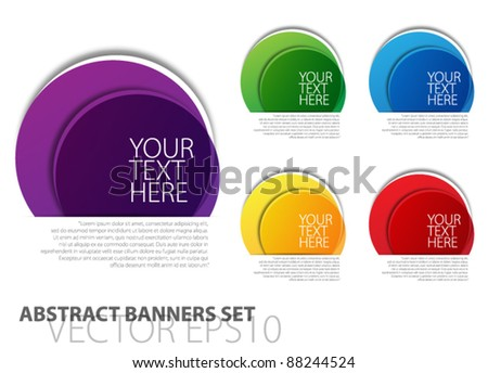 Abstract banners set vector - stock vector