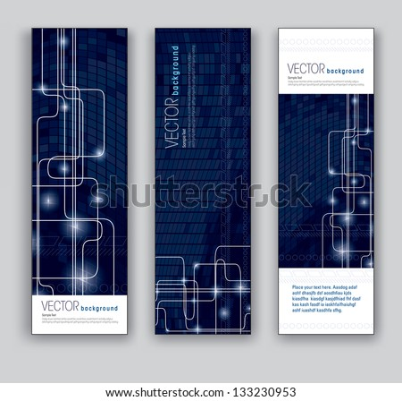 Abstract Banners. Vector Eps10 Backgrounds. - stock vector