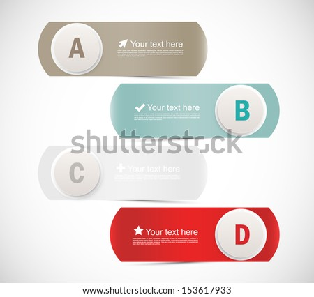Abstract banners with circles. Infographic design - stock vector
