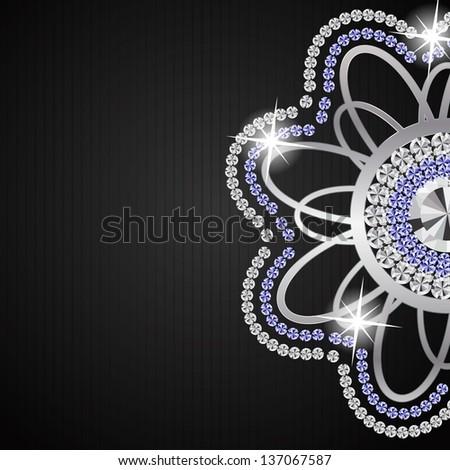 Abstract beautiful black diamond background vector illustration - stock vector