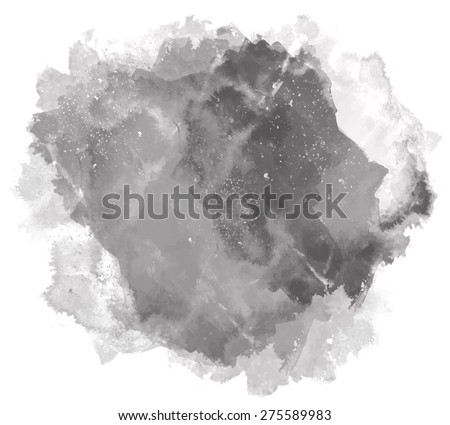 Abstract beautiful bright watercolor art hand paint on white background. Grunge vector illustration. Isolated copy text template. Spring summer colors. Chalk White black grey shades. Fashion trend hue - stock vector