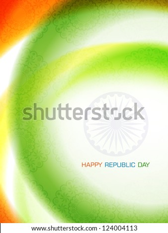 Abstract beautiful design art background for Indian republic day. - stock vector