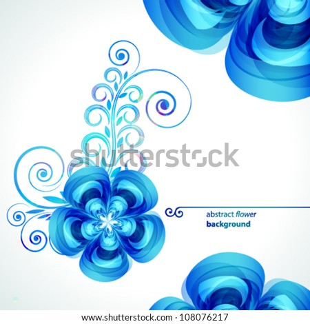 Abstract beautiful flower vector background cover template. - stock vector
