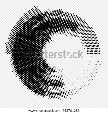 Abstract black and white background. Vector - stock vector