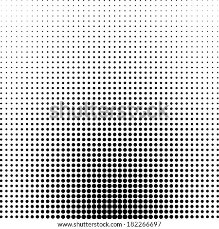 Abstract black and white dotted background - stock vector