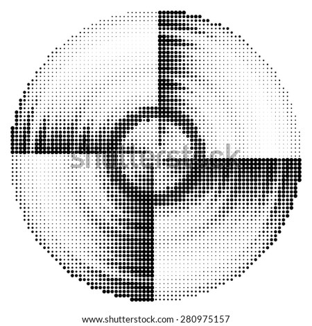 Abstract black and white dotted background. Vector - stock vector