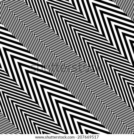 Abstract Black and White Herringbone Fabric Style Vector Seamless Pattern - stock vector