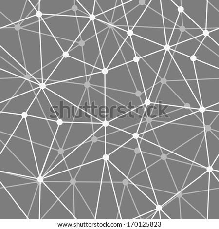 abstract black and white net seamless background - stock vector