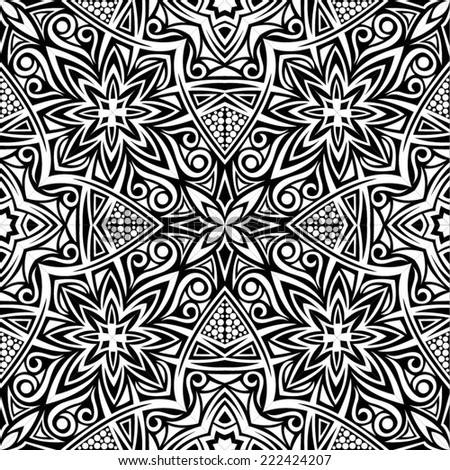 Abstract black and white seamless background - stock vector
