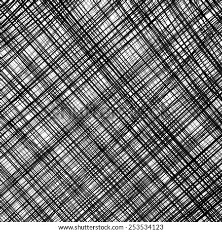 Abstract black and white stripes checkered diagonal line background  - stock vector