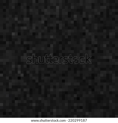 Abstract black background of a plurality of squares, pixels noise, seamless - stock vector