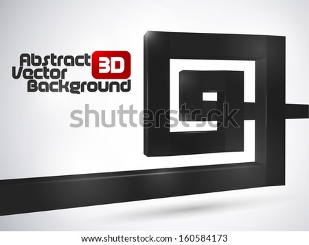 Abstract black luxury 3D spiral background  - stock vector